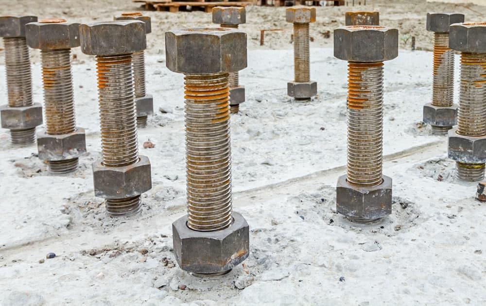 Anchor bolt surveyor for commercial construction site in Alberta