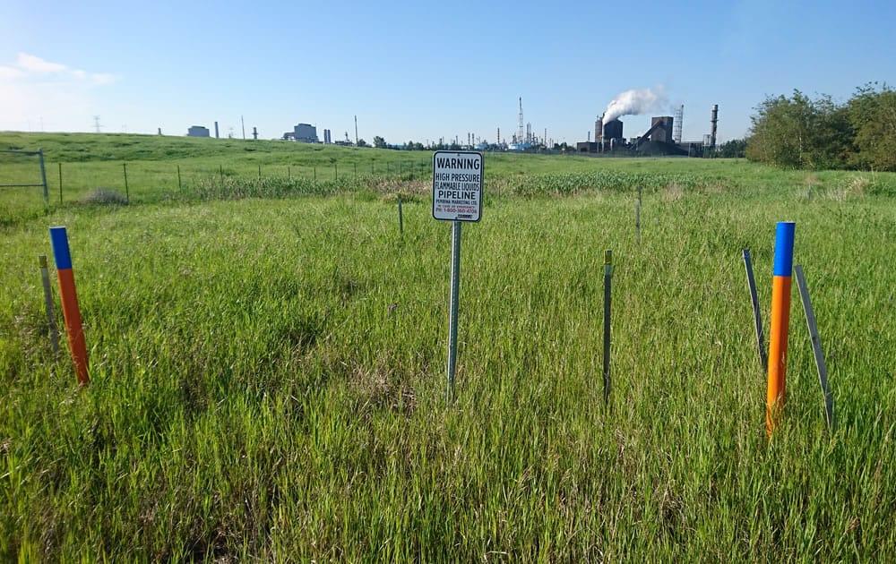 Surveying pipeline in Alberta